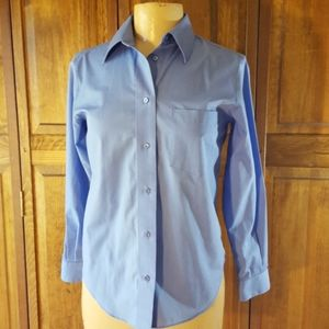 Foxcroft Wrinkle Free Long Sleeve Shirt, Sz 4P